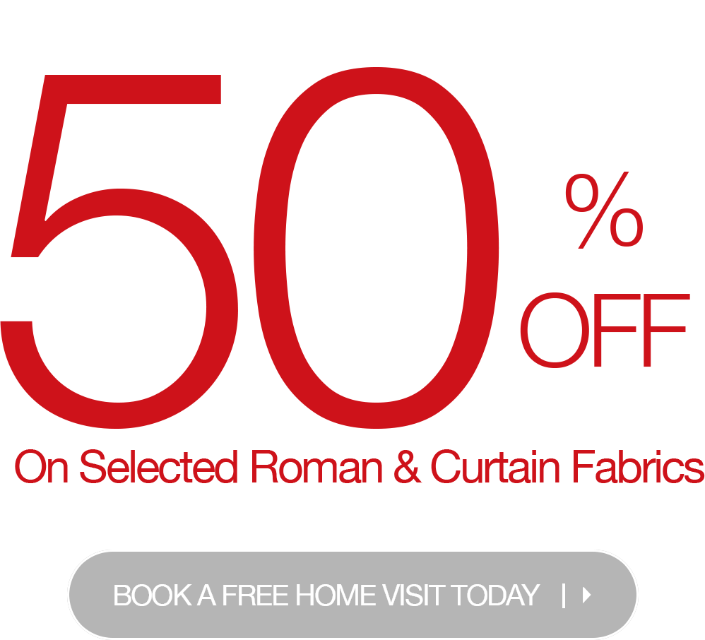 50% off on curtains